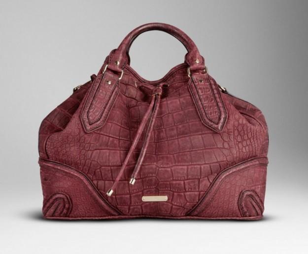 burberry Prorsum handbag in alligatore