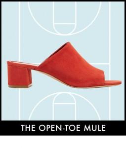 Mule open toe