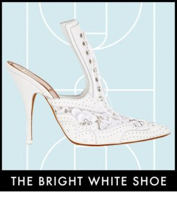 bright white shoe
