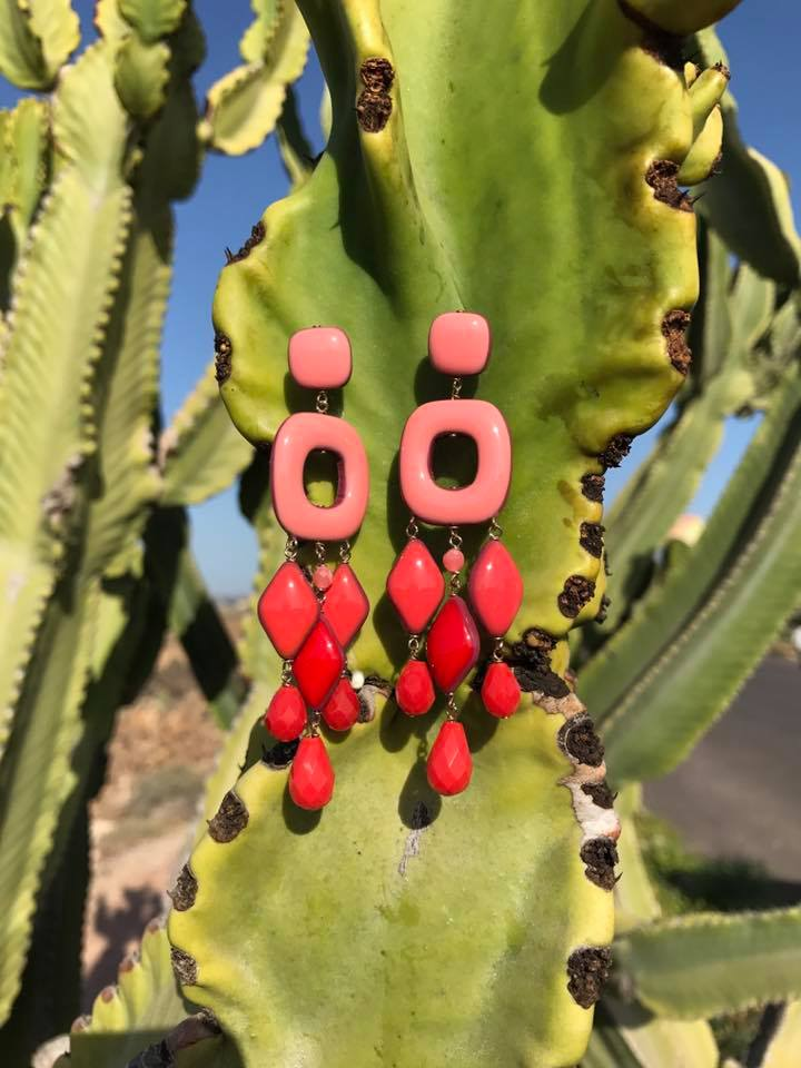 New coral earrings SS17