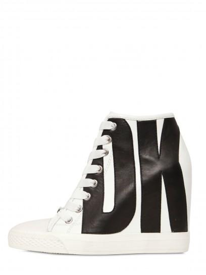 sneakers-con-zeppa-dkny-bianche-e-nere