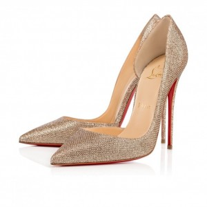 Louboutin pumps-gold