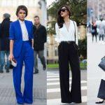 Pantaloni a palazzo effortles chic la tendenza del 2018.